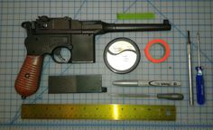 Tools used for plastic airsoft Mauser prep, and silvering.I recommend  viewing Adam Savage on tested for more mod tips.