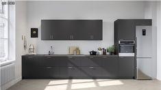 Modern Kitchen Cabinets, Kitchen Cabinet Design, Kitchen Interior, Beautiful Interior Design, Kitchen Remodel, Mid-century Modern, Furniture, Home Decor, Kitchens