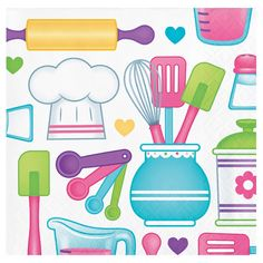 Little Chef Beverage napkins per pack. Cooking up a Birthday Party for your little chef has never been easier. We have all the ingredients youll need for a wonderful party! Beverage Napkins, Cocktail Napkins, Cocktail Drinks, Cocktails, First Birthday Party Decorations, Tea Party Birthday, 1st Birthday Girls, Baby Party, Birthday Ideas