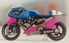The Britten V1000. John Britten was a genius and still one of my heroes. A bike far ahead of it's time.