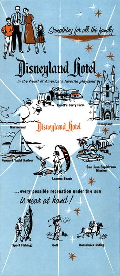 1957 Disneyland Hotel brochure via Vintage Disneyland Tickets | I think I'm going to work there!