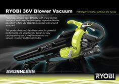 RYOBI 36V Brushless Blower Vacuum « Good Design Award 2015 - Product Design…