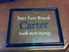 Cricut vinyl on picture frame glass @ Kristin Maltese you could always just paint the letters