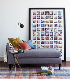 check out black and white framed pair of full size type print and sugestion to do same with wall paper ...Elevate your rental with these clever ideas.