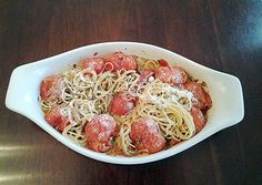 Angel Hair Pasta with GarlicOlive oil Cherry Tomatos Peppers and Onions Recipe -  Very Tasty Food. Let's make it!