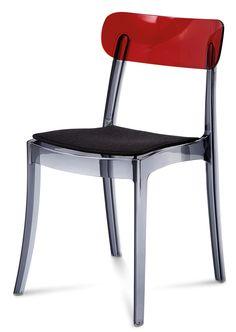 Mode Grey + Bordeaux Top Chair
