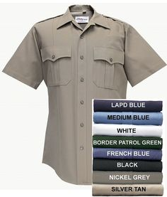 White Police Security Uniform Long Sleeve Shirt Military Crease Flying Cross