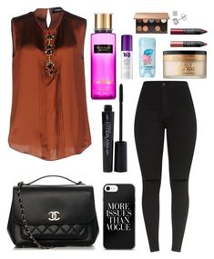 """""""Untitled #12431"""" by ohnadine on Polyvore featuring Dsquared2, Chanel, Smashbox, Victoria's Secret, Urban Decay, Nude by Nature, Too Faced Cosmetics and NARS Cosmetics"""