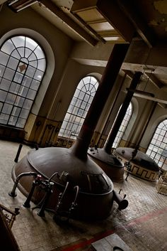 Lost | Forgotten | Abandoned | Displaced | Decayed | Neglected | Discarded | Disrepair | Kettles in the abandoned Stella Artois Brewery in Belgium
