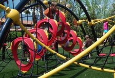 Another fun-looking playground. Good for stimulating school aged kids to be active.