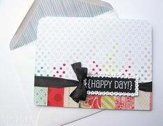 SRM Sticker {happy day} card by melstampz, via Flickr