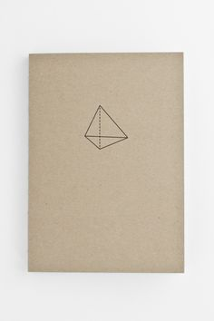 Minimalist notebook with geometric cover design #stationery