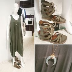 Get the look! New dresses available at both locations and they are cute cute cute! Plus we have the shoes to match!