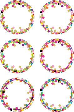 Confetti Accents Use this decorative artwork to dress up classroom walls and doors, label bins and desks, or accent bulletin boards. 30 accents per pack. Dimensions: pieces are about 6 Polka Dot Classroom, Classroom Walls, Classroom Themes, Eid Crafts, Crafts For Kids, Birthday Charts, School Frame, School Labels, Teacher Created Resources