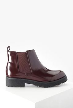 Faux Patent Leather Boots | Forever 21 | #stepitup