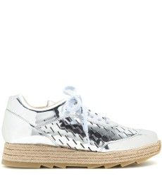 Stella McCartney - Metallic-Sneakers Macy - mytheresa.com