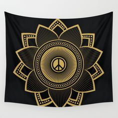 Peace+Lotus+Wall+Tapestry+by+Jon+Hernandez+-+$39.00