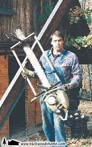 """Make Your Own Lumber With a Chainsaw Mill, by Jacqueline Tresl. """"The easy solution to this lumber crisis is for the woodworker to make his own boards from the trees of his choosing."""""""