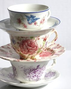 .Don't you love the little bird tea cup...