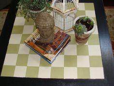 Fun checkerboard table....