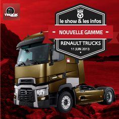 Première mondiale: la Gamme Renault Trucks enfin révélée Le show et les infos: Renault Trucks dévoile sa nouvelle gamme  http://www.truckeditions.com/Premiere-mondiale-la-Gamme-Renault.html#.UbgfEevBPDU