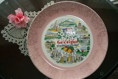 Vintage Georgia souvenir plate