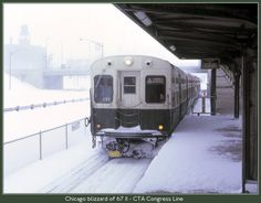 Chicago, CTA Congress Line, 1967 blizzard. My Senior year in high school. Graduated May 1968 from St. Philip H.S.