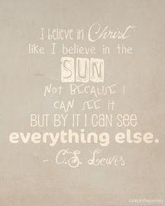 Love this CS Lewis quote