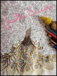Jardim Secreto - Como fazer a calda do pavão com cola glitter? | Luciana...