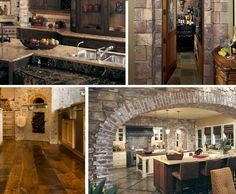 Find out how to remodel to achieve the look of a Tuscan-style kitchen featuring natural wood and metal, with fancy moldings and other flourishes. Tuscan Style Homes, Tuscan House, Tuscan Garden, Rustic Italian, Italian Home, Italian Villa, Style Toscan, Country Style, French Country