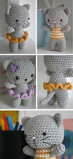 Mesmerizing Crochet an Amigurumi Rabbit Ideas. Lovely Crochet an Amigurumi Rabbit Ideas. Gato Crochet, Crochet Amigurumi, Amigurumi Toys, Crochet Dolls, Crochet Clothes, Crochet Hats, Crochet Teddy, Crochet Motifs, Crochet Patterns