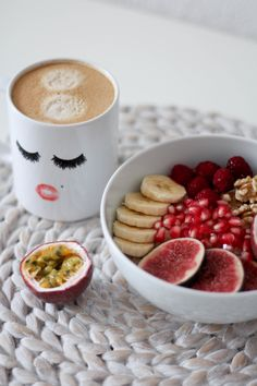 Mein Lieblingsfrühstück: Porridge - another lovely I Foods, Tableware, Dinnerware, Dishes