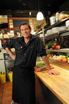Chuck Hughes.  a yummy Montreal-based chef making yummy food!!