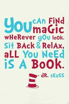 Reading Quotes For Kids Cool Drseuss Quote Print  Classroom Poster Or Nursery Print  Digital