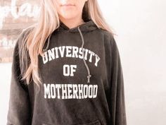 """Sarah Komers (she/her) on Instagram: """"📣 Don't forget to treat yourself to the original #universityofmotherhood vintage wash hoodie 🎓 I swear we've earned our Ph.D. in mothering…"""" Treat Yourself, Hoodies, Sweatshirts, Don't Forget, Graphic Sweatshirt, Culture, Mom, The Originals, Sweaters"""