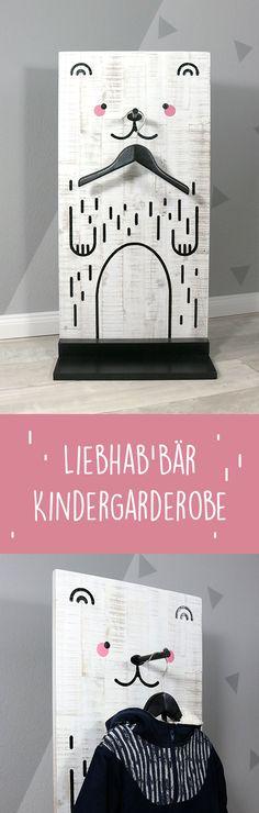 Kindergarderobe aus Holz selber bauen » Standgarderobe fürs Kinderzimmer » DIY » Bauanleitung