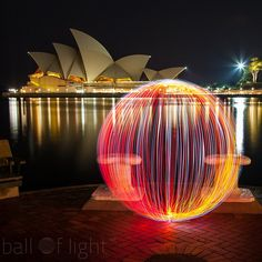 Light Painting - Light Art - Denis Smith - A little building in Sydney - Australia - 1/03/2015