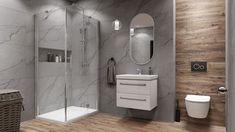 Galeria łazienek - zdjęcia, gotowe projekty - Domni.pl Plumbing, Teak, Toilet, Bathroom, Retro, Washroom, Flush Toilet, Full Bath, Toilets