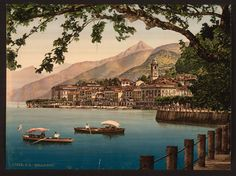 Items similar to Bellagio, general view, Lake Como, Italy Colorized photo / photochrom. Vintage reprint postcard, and larger available. on Etsy Norway Travel, Italy Travel, Lac Como, First Color Photograph, Lake Como Italy, Stone Blocks, Colorized Photos, Turu, Vintage Italy