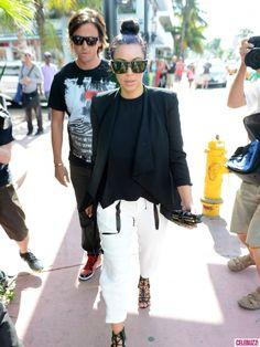 Kim Kardashian Goes Shopping in Miami...cute hair idea
