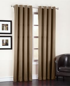 Sun Zero Grant Solid Room Darkening Grommet Collection - Window Treatments - For The Home - Macy's