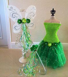 Tinkerbell Tutu Tinkerbell Costume Fairy Costume by partiesandfun