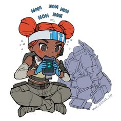 Lifeline consuming those Ultimate Accelerant to get some sweet loot Game Character Design, Character Art, Video Game Art, Video Games, Legend Images, Fanart, Chibi, Anime Art, Sketches