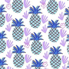 Blue Pineapple by Pink Pagoda Studio / Barbara Perrine Chu.