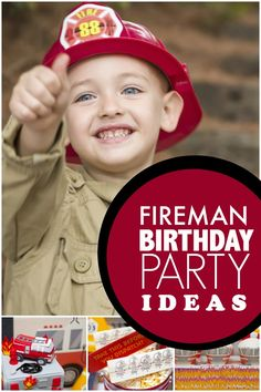 Stop, drop and roll out an awesome fireman themed birthday party by observing these surefire party tips! Jennifer Carver from Spaceships and Laser Beams has ideas for party decorations, refreshment… Fireman Party, Firefighter Birthday, Fireman Sam, 3rd Birthday Parties, Boy Birthday, Birthday Ideas, 17th Birthday, Birthday Cakes, Party Ideas
