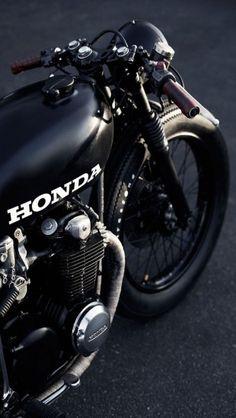 Black Honda cafe racer http://theiphonewalls.com/black-honda-cafe-racer/