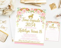 Horse Carousel Time capsule sign with message by Kattygoodparty
