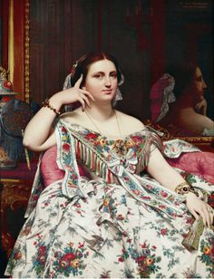 Jean-Auguste-Dominique Ingres  Madame Moitessier, 1856