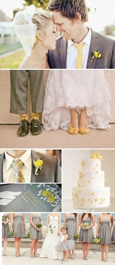 Grey and Yellow Wedding theme by frida alfonso