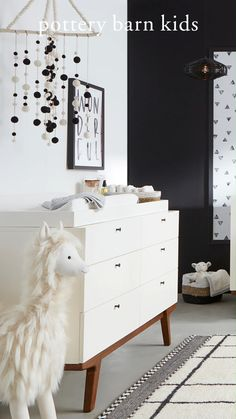 Make it modern! Bring home your little one to a mixed neutral nursery that is both stylish and functional!